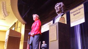 Former Missouri State Lady Bears coach Cheryl Burnett was honored as a Missouri Sports Legend on Monday, March 23 , 2015, highlighting the Hall's Women in Sports Luncheon.