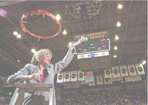 Former Lady Bears coach Cheryl Burnett won 319 of 455 games in then-Southwest Missouri State from 1987 to 2002.