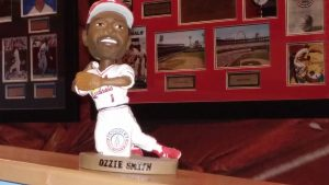 Our last remaining Ozzie Smith bobblehead dolls are for sale at the Missouri Sports Hall of Fame.