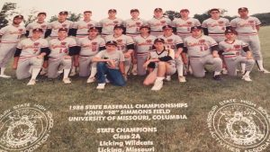 The 1988 Licking High School baseball team won the Class 2 state championship under coach Bryon Hagler.