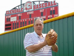 Left-hander Brad Simmons, one of our Diamond 9s to be honored May 27, led Glendale High School to the 1976 state championship.