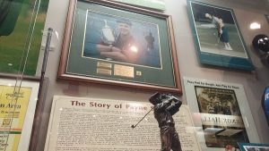 A portion of the Payne Stewart display inside the Hall.