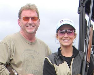Judge Becky Bostwick, right, participated in the Sporting Clays Classic last year along with a group that included the Missouri Sports Hall of Fame's Marty Willadsen.