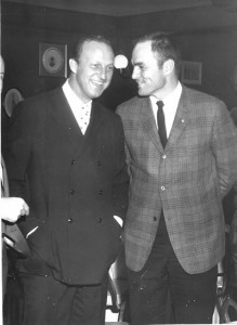 "Charlie James, right, with Stan ""The Man"" Musial."
