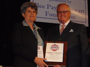 Barbara Cowherd with President & Executive Director Jerald Andrews