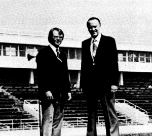 Art Hains, left, with the late Vern Hawkins.