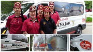 A PCCC gift helped the Shriners Hospital Dads purchase a new van in 2015.