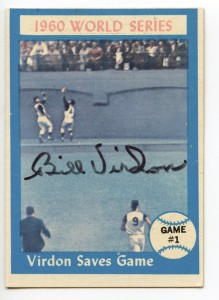 Bill Virdon-1960 World Series baseball card