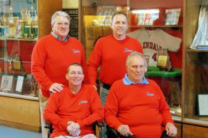 The first four Glendale High School baseball coaches: Front: Howard Bell, Don Provance. Back: Mark Stratton and Mike Snodgrass