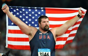 Aug 15, 2008; Beijing,CHINA; Christian Cantwell (USA) placed second in the shot put during the 2008 Beijing  Olympics athletics competition at National Stadium. Mandatory Credit: Kirby Lee/Image of Sport-US PRESSWIRE